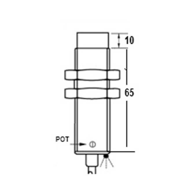 capacitive proximity switches  m18 75 3 wire dc