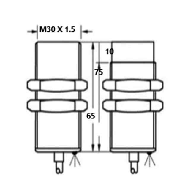 inductive proximity switches m30 x 65