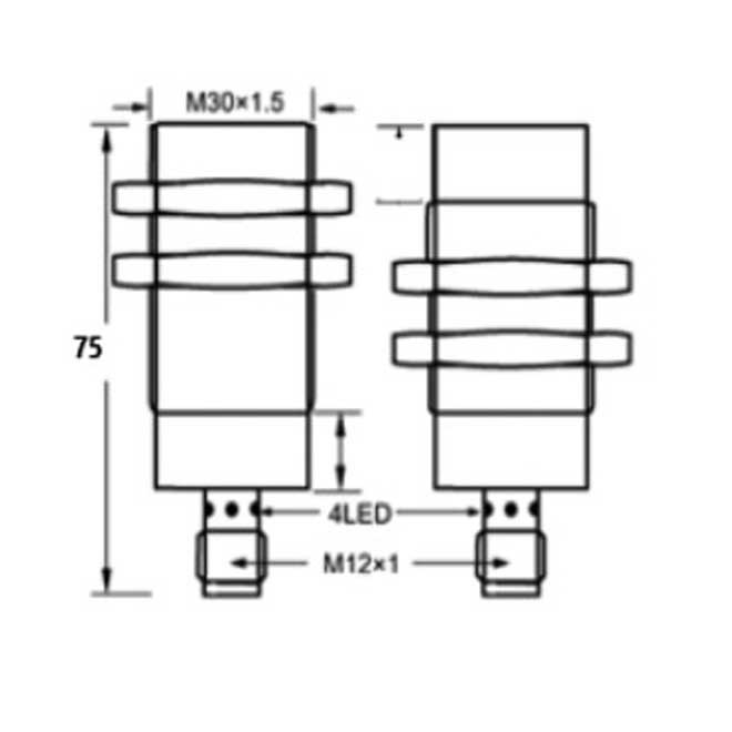 inductive proximity switches m30 65 4pin dc  manufacturer